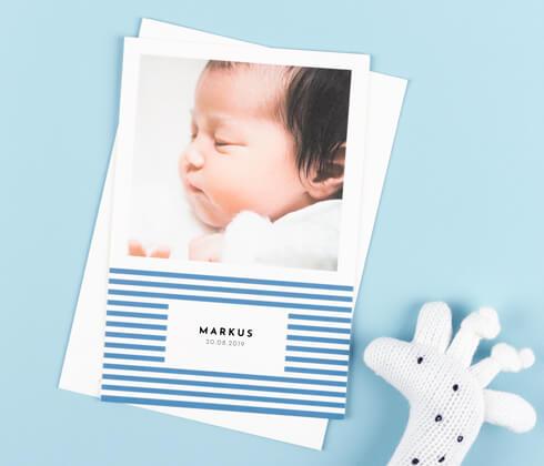 Personalisierte Geburtskarten - Atelier Rosemood