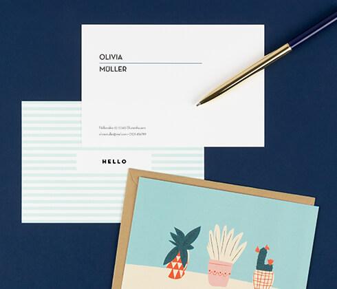 Personalisierte Grußkarten - Atelier Rosemood