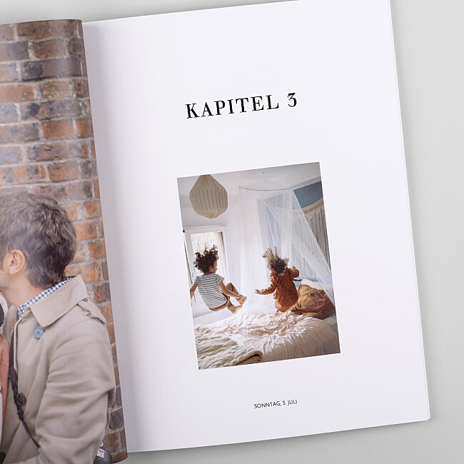 Fotobuch mit Kapitelseiten