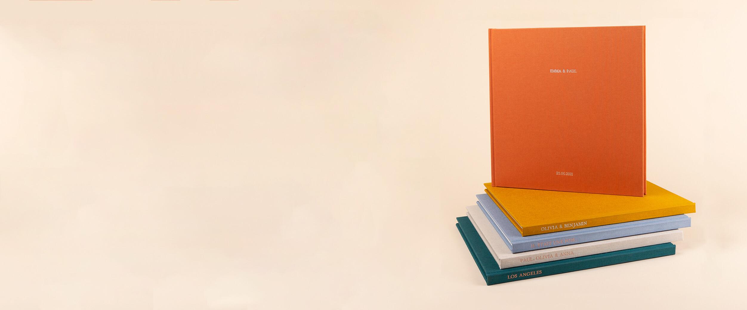 Hardcover-Fotobuch mit Stoffeinband