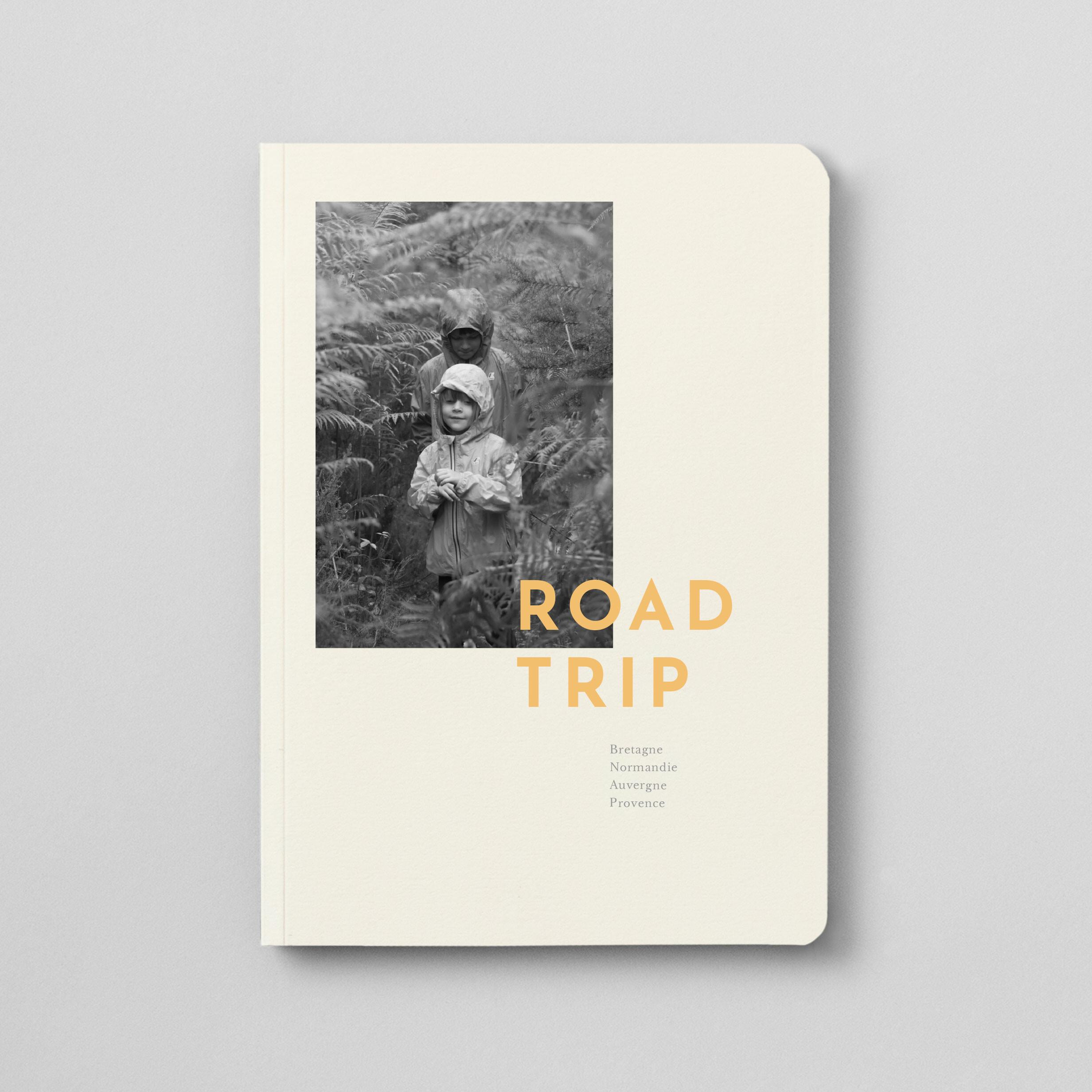 Notizbuch mit Softcover und Foto (monochrom)