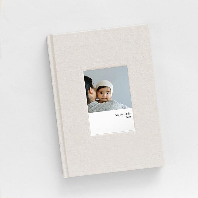 Notizbuch Stoffeinband und Foto
