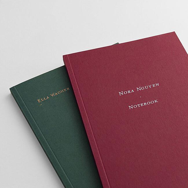 Notizbuch mit personalisierbarem Titel