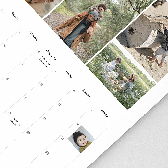 Personalisierbare Kalenderspalten