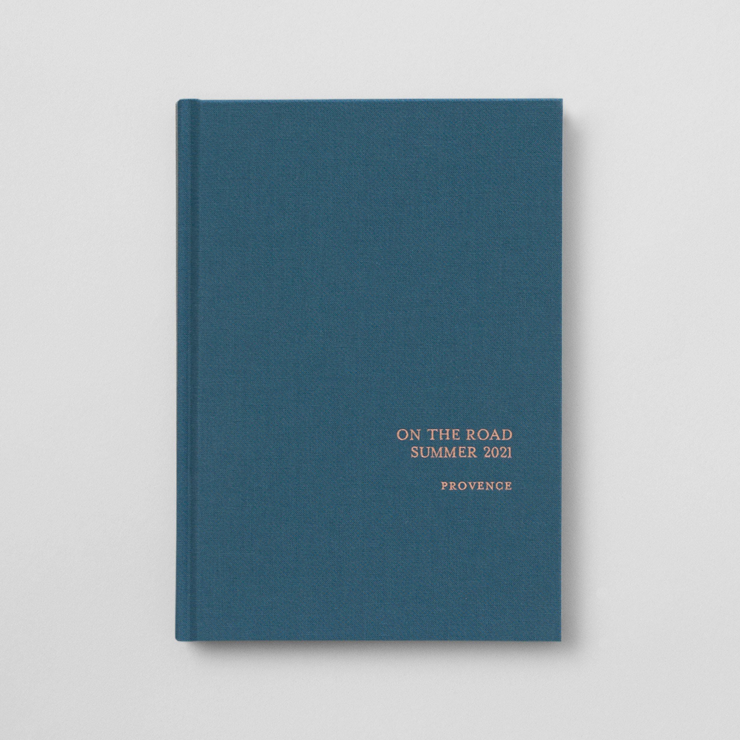 Notizbuch Stoffeinband veredelt Atelier Rosemood
