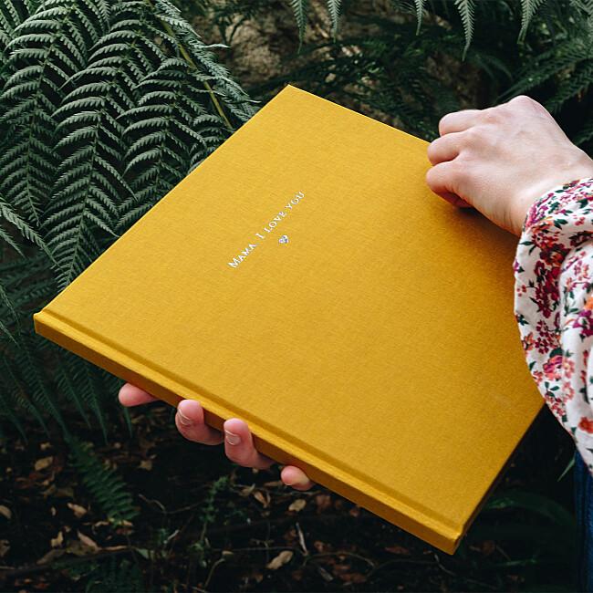 Fotobuch mit Stoffeinband von Atelier Rosemood