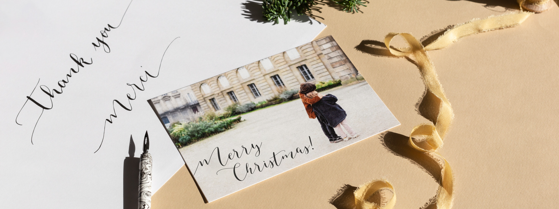Weihnachtskarten Rosa