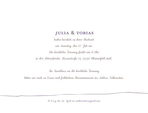 Hochzeitseinladungen Vöglein violett - Seite 3