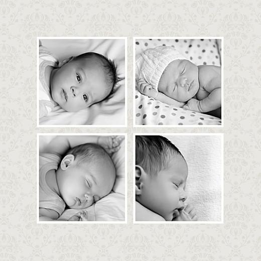 Geburtskarte Arabesk 5 fotos rosa