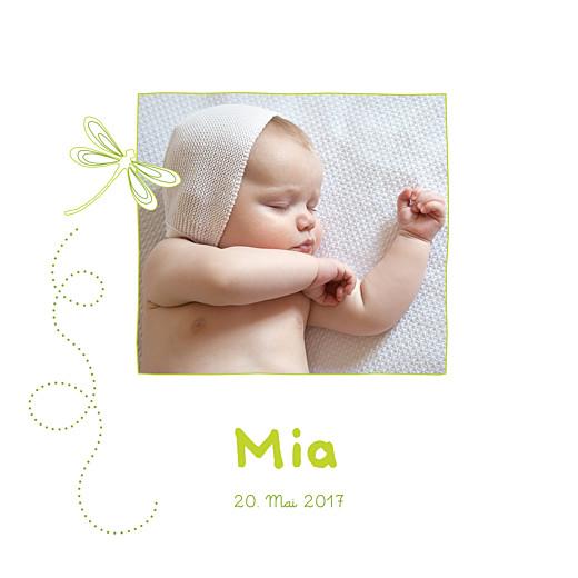 Geburtskarten Libelle frühlingsgrün