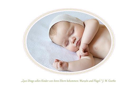 Geburtskarten Lange blumensinfonie rosa - Seite 2