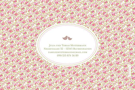 Geburtskarten Lange blumensinfonie rosa - Seite 4