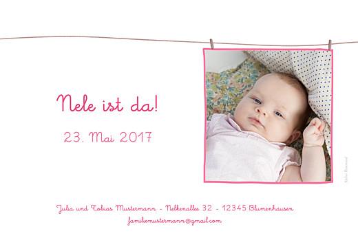 Geburtskarten Wäscheleine foto hellrosa - Seite 2