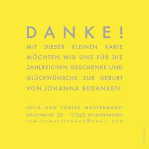 Mini Dankeskarten The photo ! gelb