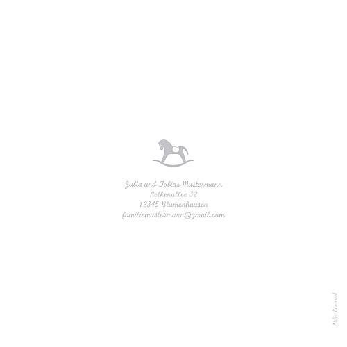 Geburtskarten Pferdchen zweisprachig grau - Seite 4