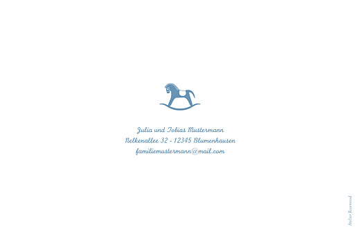 Geburtskarten Pferdchen fernblau - Seite 4