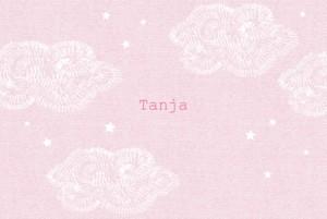 Geburtskarte Himmlisch rosa