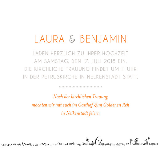 Hochzeitseinladungen Feldhochzeit paar weiss - Seite 3