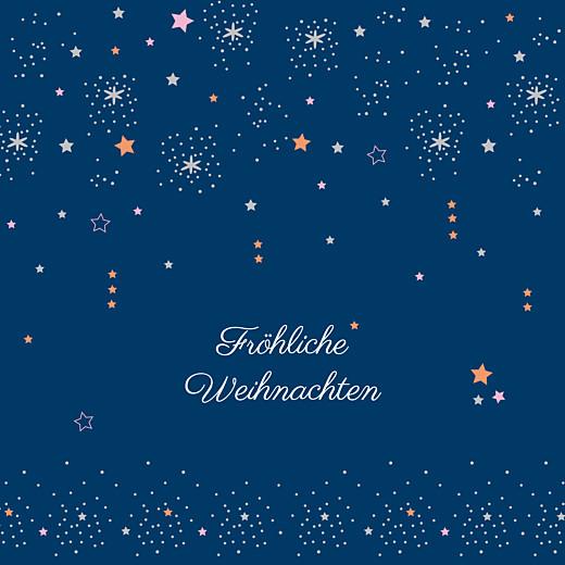 Weihnachtskarten Sterne marineblau & rosa