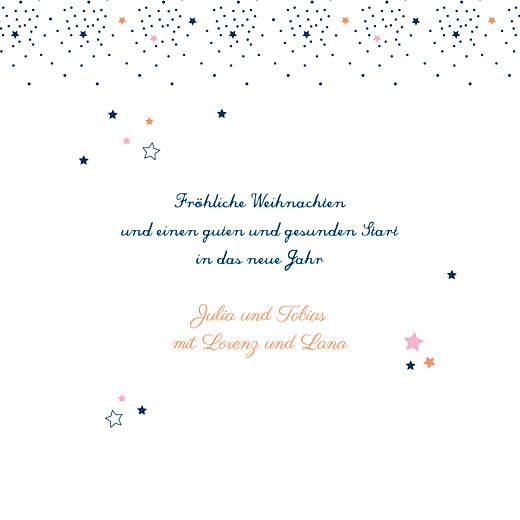 Weihnachtskarten Sterne marineblau & rosa - Seite 3