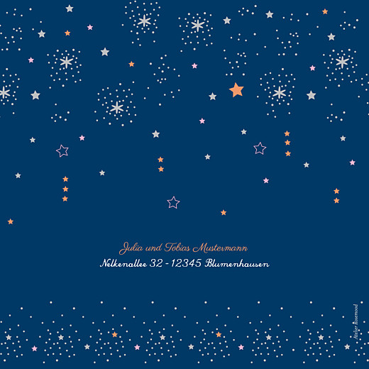 Weihnachtskarten Sterne marineblau & rosa - Seite 4