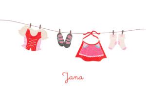 Kinderkleidung auf wäscheleine  Geburtskarte Wäscheleine Matrose - Atelier Rosemood
