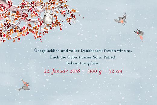 Geburtskarten Wintermärchen blau - Seite 3