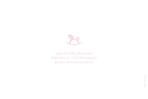 Geburtskarten Pferdchen 4 fotos zartrosa - Seite 4