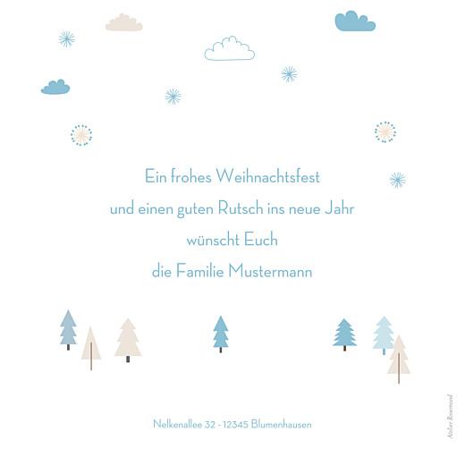 Weihnachtskarten Winter forest bleu - Seite 2