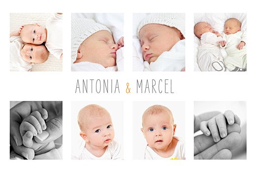 Geburtskarten Zwillinge 9 fotos weiss