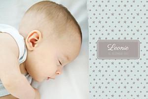 Geburtskarten braun sterne 2 fotos gruen