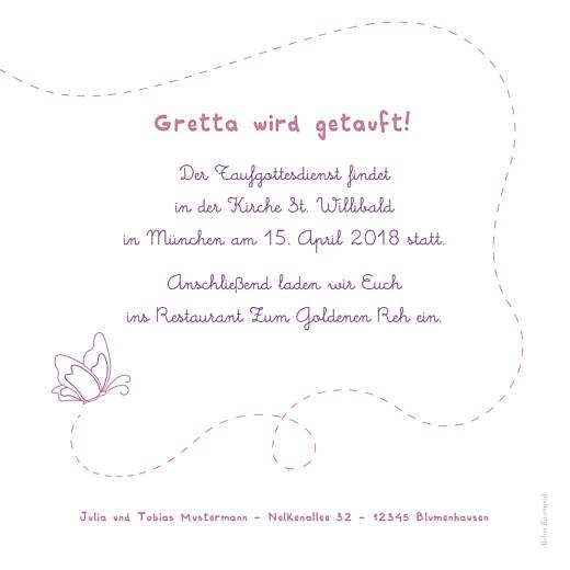 Taufeinladung Schmetterling Foto   Atelier Rosemood, Kreative Einladungen