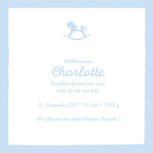 Geburtskarten Kleines pferdchen zartblau
