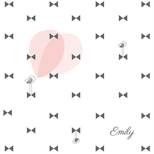 Geburtskarten Schleifchen foto rosa