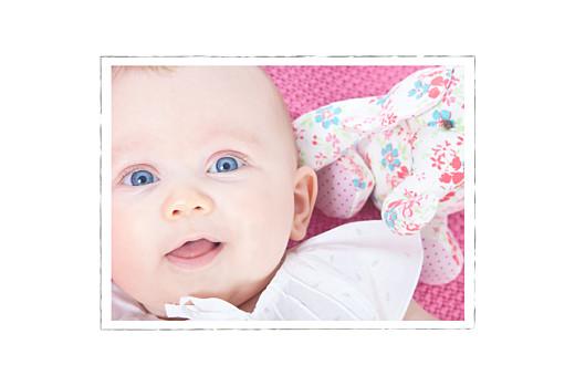 Geburtskarte Lange blumenkrone zartgruen