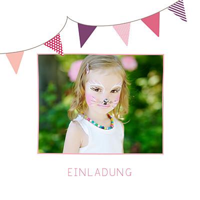 Geburtstagskarten Kinder Girlande rosa & violett finition