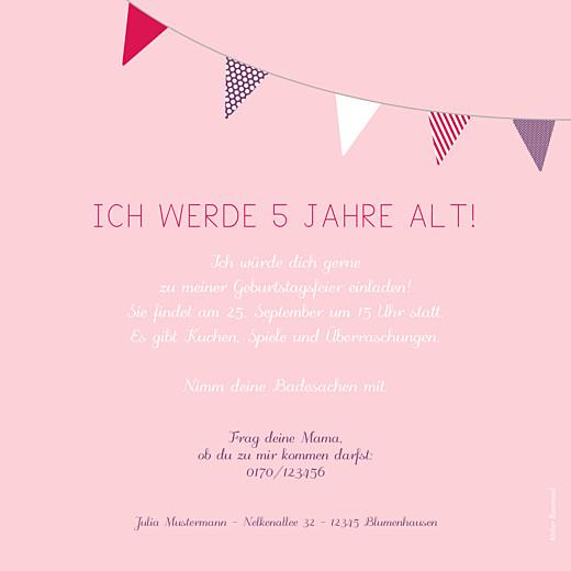 Geburtstagskarten Kinder Girlande rosa & violett - Seite 2