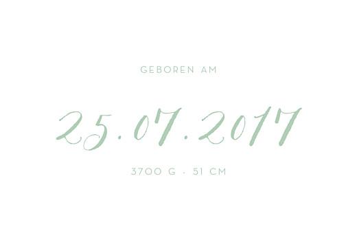 Geburtskarte My name gruen