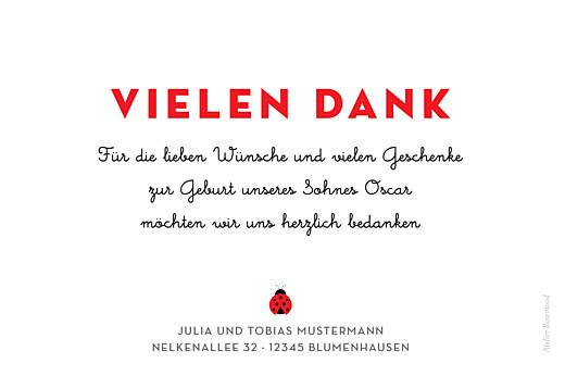 Mini Dankeskarten Glückskäfer weiss - Seite 2