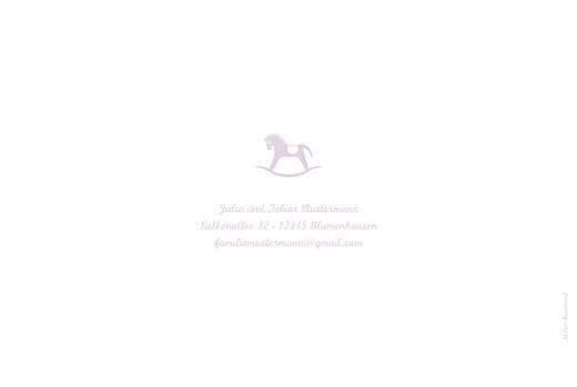 Geburtskarten Pferd zweisprachig lavandel - Seite 4