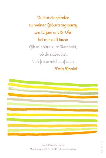 Geburtstagskarten Kinder Kunterbunt orange - Seite 2