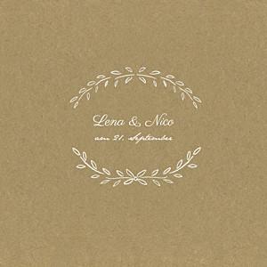 Hochzeitseinladungen braun lyrik sand