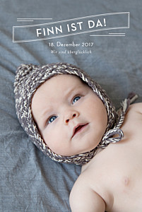 Geburtskarten schwarz schlagzeile 5 fotos weiss