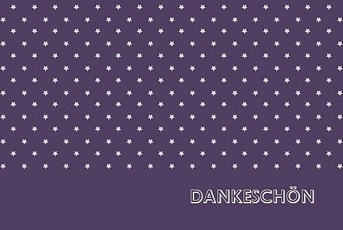 Dankeskarten Sternchen violett