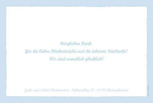 Dankeskarten Pferd medaillon zartblau - Seite 2