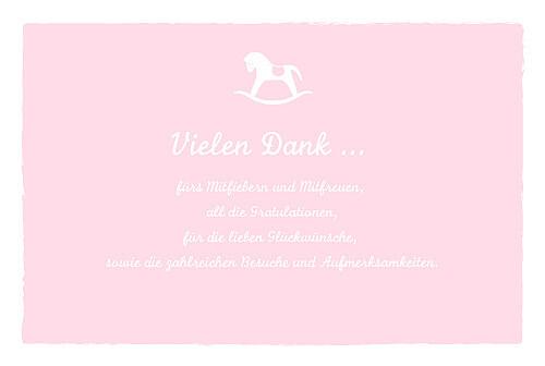 Dankeskarten Pferd zartrosa