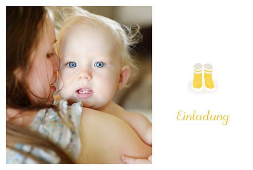 Taufeinladungen Stiefel foto gelb