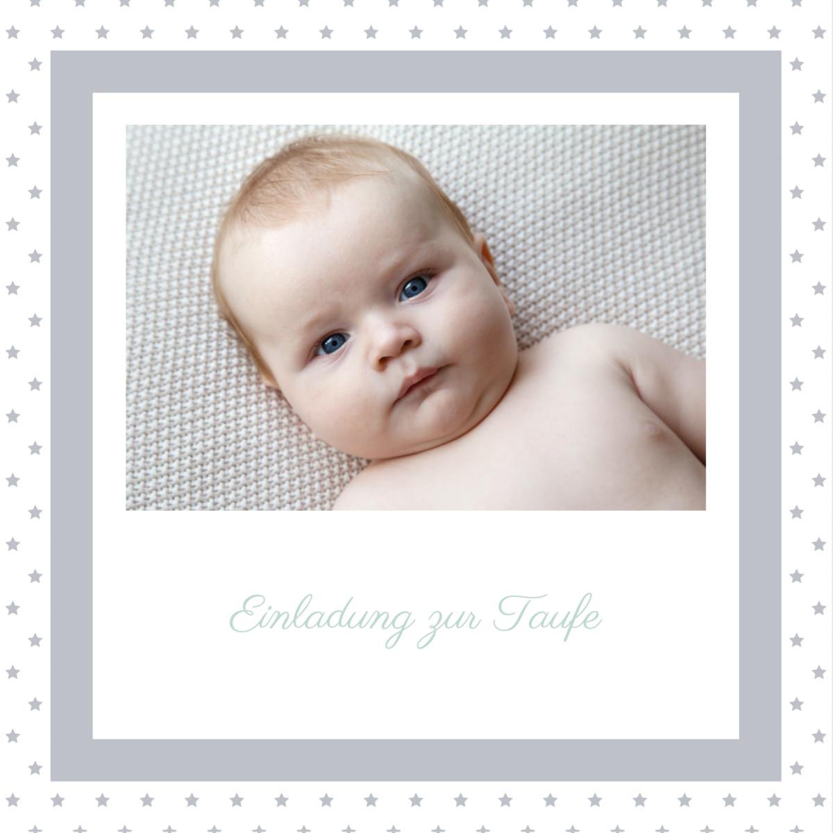 Rosemood: Taufeinladung Tradition Sterne