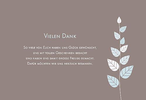 Dankeskarten Blättertraum blau
