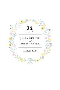 Hochzeitseinladungen tomoë  blütenzauber weiss